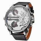 Известный дизайнер мужские часы лучший бренд класса люкс кварц-часы OULM кожаный ремешок большой лицо Военная Кварцевые часы Relogio Masculino
