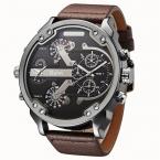 поступление  года Топ Марка OULM 3548 мужские 5.5 см большой лицо часы 2 Часовой пояс случайные кварцевые часы Montre Homme de MARQUE Grande