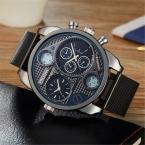 XINEW брендовая мужская OULM 9316 часы 4.9 см большой лица Военная дизайнер erkek Saat Montres de MARQUE De Luxe спортивные старинные часы черный