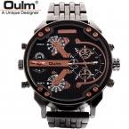 OULM мужской военные часы золотые кварцевые часы Высокое качество Топ бренд мужской полный нержавеющей стали наручные часы Relogio Masculino HT3548