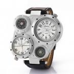 OULM 9415 Мода кварцевые часы мужские брендовые оригинальные большой лицо Dual Time Часы Relogio masculino Montre Homme de MARQUE буссоль