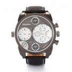 Аутентичные OULM 9316 часы Relojes Lujo Marcas мужчин 4.9 см негабаритных Серебряный набор Montre Homme de MARQUE Relogio masculino оригинал