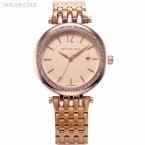 Люксовый бренд тейлор коул женщины одеваются часы Relogio Feminino розового золота полные ремень кристалл чехол леди браслет часов / TC017