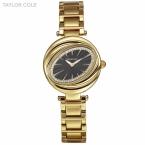 Тейлор Cole 34mm Модные женские овальный кристалл кварца Япония золотой черный женские часы из нержавеющей стали Relogio feminino/ TC100