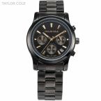 Тейлор коул бренда женщины одеваются часы Relogio Feminino авто дата весь стальной ленты леди кварцевые часы мода кварцевые часы / TC008