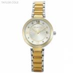 Taylor cole золотой аглая роман дата кристалл relogio feminino тонкий кварцевые стали металлическая группа браслет девушку наручные часы/tc066