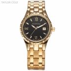 Тейлор коул люксового бренда женщины одеваются часы авто дата золотой браслет из нержавеющей стали Relogio Feminino леди мода часы / TC023