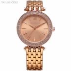 Тейлор коул женское платье наручные часы мода свободного покроя леди браслет часы Relogio Feminino горный хрусталь чехол кварцевые часы / TC002