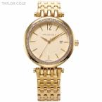 Золото тейлор коул марка дате весь стальной ленты горный хрусталь чехол Relogio женщины мода браслет платье наручные часы / TC016