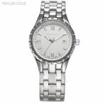 Тейлор коул марка Relogio Feminino женщин мода свободного покроя часы авто дата серебро изображение стали леди кварцевые часы / TC024