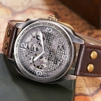 Часы скелет Мужчины Автоматические Механические Наручные Часы Ретро Винтаж Мода Стиль OUYAWE Натуральная Кожа Часы Мужчины Мужской Часы