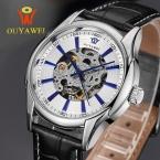 ГОРЯЧИЕ Продажи Механические Часы мужские Скелет наручные часы Человек часы Кожа Relogio Masculino Роскошные Мода Повседневная Наручные Часы