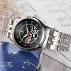 OUYAWEI Брендовые женские Автоматические механические часы Lady Роскошная Повседневная алмаз полые Скелет платье наручные часы Relogio femininos