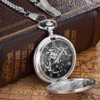 Лидирующий бренд карманные часы механические цепи Скелет автоматические часы ожерелье дизайн Fahion карман и fob мужские часы намотки Reloj часы