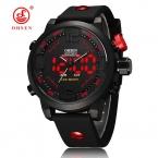 Силиконовые человек спортивные часы Водонепроницаемый Круглый Кварцевый цифровой высокое качество часы марки военные повседневные часы Reloj Hombre