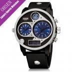 OHSEN несколько часовых поясов Роскошные мужские часы кварцевые Водонепроницаемый 5bar бренд часы творческий большой набор Военный Мужские наручные часы