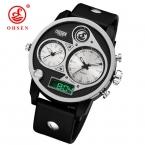 OHSEN мужские часы лучший бренд класса люкс кварцевые часы мужские уникальные дизайнерские рук часы модные спортивные Водонепроницаемый наручные часы Reloj