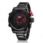 OHSEN брендовые черные часы для мужчин аналоговый цифровой-смотреть LED нержавеющей стали Водонепроницаемый кварц спортивный мужчина многофункциональные часы в стиле милитари
