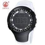 OHSEN LED часы Женская спортивная Водонепроницаемый 50 м большой циферблат белый резиновая часы унисекс женская цифровые часы женские наручные Relogio