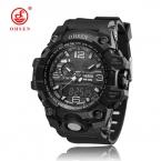 Бренд Ohsen Спортивные часы Мужская мода аналоговые Кварцевые LED цифровые электронные часы Водонепроницаемый военные часы Relógio masculino