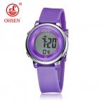 OHSEN желейные конфеты часы девушку Водонепроницаемый 50 м открытый цифровой спортивные часы Женские Простые Модные часы ручной наручные час подарок