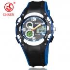 Бренд Ohsen цифровые спортивные часы наручные часы для мальчиков Водонепроницаемый черной резинкой модные популярные мужские часы для мужчин подарок