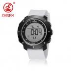OHSEN женские спортивные часы каучуковый ремешок светодиодный кварцевые Повседневная наручные часы унисекс Водонепроницаемый часы модные часы для дам