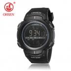 Ohsen, мужские спортивные военные часы, LED, цифровые, мужские фирменные часы, 5 атмосфер, подходят для ныряния, плавания, модные, для улицы, водонепроницаемые наручные часы для мальчиков