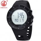 Светодиодные мужские часы в стиле милитари Ohsen, цифровые брендовые часы, 5 АТМ, для дайвинга, плавания, модные часы для мужчин (черные)