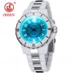 Hodinky OHSEN Женская Роскошные Водонепроницаемый спортивные часы 7 многоцветные светодиодные часы FG0736 Relogio esportivo feminino