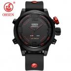 Новая Мода OHSEN Марка LED спортивные мужские часы аналоговые кварцевые часы спортивные часы мужские Водонепроницаемый Relogio Masculino Повседневная часы
