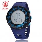 Ohsen 2821 Мужские Спортивные Военные Часы, Брендовые Модные Повседневные Наручные Часы, Мужские Цифровые Часы (Синие)  Распродажа