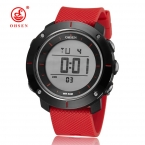 НОВЫЙ OHSEN Брендовые женские спортивные часы цифровой светодиодный Дамская мода наручных часов страсти красный каучуковый ремешок 50 м Водонепроницаемый часы унисекс