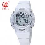 OHSEN унисекс часы Мода Повседневная часы Relógio masculino студенты спортивные для мужчин и женщин water resistant сигнализации наручные часы
