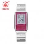 OHSEN  женские часы из нержавеющей стали цифровой женские наручные часы модные женские часы Relogio masculino спортивные часы