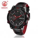 OHSEN модный бренд Relogio Masculino Мужчины Спортивные часы аналоговые цифровые Дисплей 3ATM Водонепроницаемый Японии кварцевые мужские военные часы