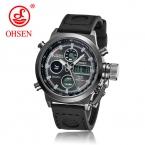 Новинка : негабаритные повседневные кварцевые наручные мужские  часы Wh3301 в стиле милитари/спорт . Кожаный ремешок, водонепроницаемые