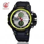 Модные мужские военные часы для мужчин спортивные часы OHSEN Элитный бренд аналоговые кварцевые и светодиодный цифровой открытый Водонепроницаемый наручные часы