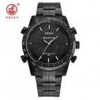 Элитный бренд мужчины военный спортивные часы мужские кварцевые светодиодный цифровой Hour Clock Мужской полный стали наручные часы Relogio Masculino