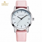Kingsky Хит продаж женские часы марки браслет кожаный ремешок модные повседневные женские кварцевые часы hodinky Montre Femme