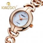KingSky Марка Роскошные Часы Моды Случайные Часы Стразами женские Наручные Кварцевые Ладис Золотые Часы relógio feminino