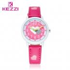 KEZZI Love Hearts ребенок Часы Девушка Кожаный Ремешок Печати Мультфильм Дети Смотрят Студенты Кварцевые Наручные Часы Повседневная Мода Horloge