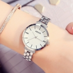 KEZZI Роскошные Брендовые женские часы из нержавеющей стали простые Водонепроницаемый кварцевые наручные часы женская одежда часы horloge Reloj Mujer