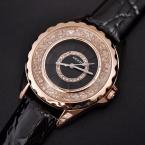 Продажа KEZZI Марка Роскошные Женские Часы Моды Изысканные Rhinestone Кристаллическое Циферблат Высокое Качество PU Ремешок Водонепроницаемый Кварцевые Часы