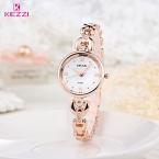 Kezzi luxury brand женские часы водонепроницаемые нержавеющей стали кварцевые часы роман масштаб мульти режущей поверхности зеркала часы браслет
