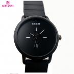 Kezzi Марка Классический Черный Белый Силиконовые Часы Женщины Спорт Кварцевые Часы Дамы Водонепроницаемые Часы Унисекс Часы Relojer Feminino