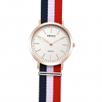 Kezzi марка женщины нейлоновый ремешок часы ретро тонкий циферблат спортивные часы водонепроницаемые дамы кварцевые часы для мужчин часы relogio feminino