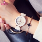 Kezzi бренд relogio feminino женские керамические наручные часы оболочки горный хрусталь дамы браслет часы водонепроницаемые кварцевые часы