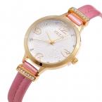 Luxury brand kezzi кожаный ремешок дамы смотреть моды изысканные инкрустированные хрустальные цветы pattern циферблат водонепроницаемый кварцевые часы оптом