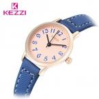 Kezzi марка повседневная смотреть натуральная кожа женские часы простой набор японский движение водонепроницаемый кварцевые наручные часы montre femme